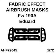 Focke-Wulf Fw.190A fabric effect aileron and control surfaces airbrush masks #AHF72045