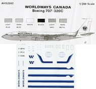 Airone Hobby  1/200 Boeing 707-320C Worldways Canada . AHS2002