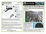 Airscale Model Aircraft Enhancements  1/24 P-51D Mustang Instrument Panel (Decal) AIC2404