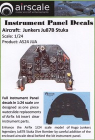Airscale Model Aircraft Enhancements  1/24 Junkers Ju.87 Stuka Instrument Panel (Decal) AIC2407