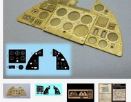 Airscale Model Aircraft Enhancements  1/24 Hurricane Mk 1 Instrument Panel (Photo-Etch & Decal) for ARX AIC2416
