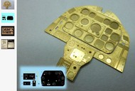 Airscale Model Aircraft Enhancements  1/24 P-51D Mustang Instrument Panel (Photo-Etch & Decal) for ARX AIC2417