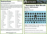 AIRSCALE MODEL AIRCRAFT ENHANCEMENTS  1/32 WWII Luftwaffe Instrument Dials (Decal) AIC3202
