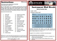 AIRSCALE MODEL AIRCRAFT ENHANCEMENTS  1/32 Early Soviet Jets Instrument Dials (Decal) AIC3206