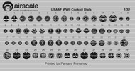 AIRSCALE MODEL AIRCRAFT ENHANCEMENTS  1/32 WWII USAAF Instrument Dials (Decal) AIC3207