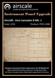 Avro Lancaster B Mk I Instrument Panel Upgrade for HKM #AIC3216