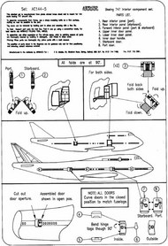 """Airwaves  1/144 Boeing 747 """"Jumbo"""" interior (designed to be used with the Airfix kits) AEC44005"""