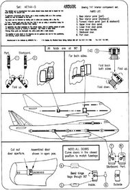 Airwaves  1/144 Boeing 747 'Jumbo' interior AEC44005