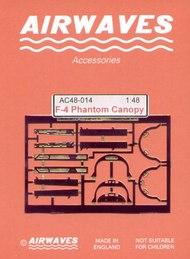 Airwaves  1/48 F-4 Phantom Canopy Set - Pre-Order Item AEC484014