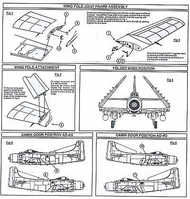 Airwaves  1/48 Skyraider wingfold set and conversion to - Pre-Order Item AW484098