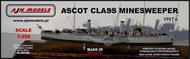 AJM Models  1/350 HMS Ascot British armed paddle steamer WWI AJM350-001