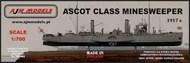 AJM Models  1/700 HMS Ascot British armed paddle steamer WWI AJM700-001