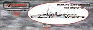 AJM Models  1/700 HMS Vindictive, WWI aircraft carrier AJM700-012
