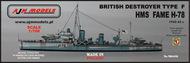 AJM Models  1/700 HMS Fame H-78 British Type F Destroyer AJM700-018