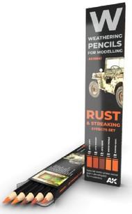 Weathering Pencils: Rust & Streaking Effects Set (5 Colors) - Pre-Order Item #AKI10041