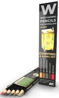 Weathering Pencils: Chipping & Aging Set (5 Colors) #AKI10042