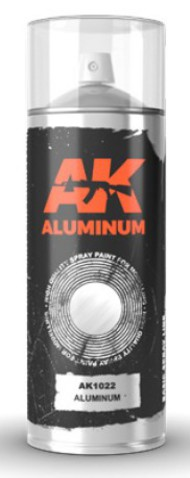 Aluminum Lacquer Paint 150ml Spray #AKI1022