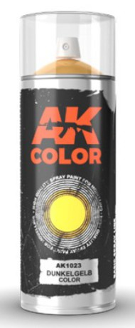 Dark Yellow (Dunkelgelb) Lacquer Paint 150ml Spray #AKI1023