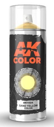 AK Interactive   N/A Sand Yellow Lacquer Paint 150ml Spray AKI1024