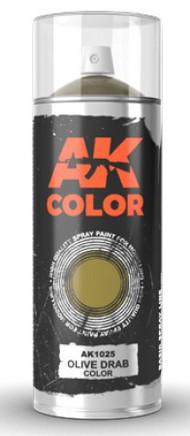 Olive Drab Lacquer Paint 150ml Spray #AKI1025