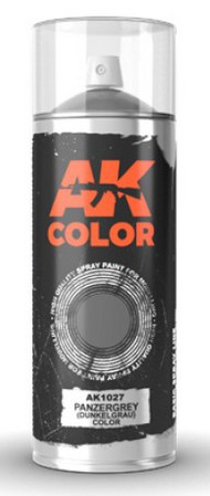 Panzer Grey (Dunkelgrau) Lacquer Paint 150ml Spray #AKI1027