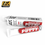 AK Interactive   N/A White Acrylic Modeling Hard Putty 20ml Tube AKI103