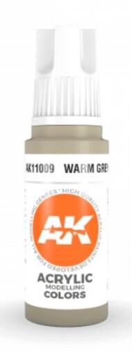 AK Interactive  AK Acrylics Warm Grey Acrylic Paint 17ml Bottle AKI11009