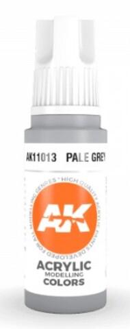 AK Interactive  AK Acrylics Pale Grey Acrylic Paint 17ml Bottle AKI11013