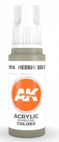 AK Interactive  AK Acrylics Medium Sea Grey Acrylic Paint 17ml Bottle AKI11014