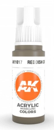 AK Interactive  AK Acrylics Reddish Grey Acrylic Paint 17ml Bottle AKI11017