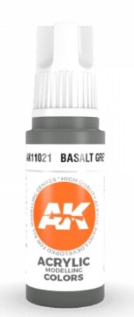 AK Interactive  AK Acrylics Basalt Grey Acrylic Paint 17ml Bottle AKI11021