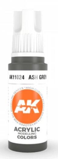 AK Interactive  AK Acrylics Ash Grey Acrylic Paint 17ml Bottle AKI11024