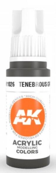 AK Interactive  AK Acrylics Tenebrous Grey Acrylic Paint 17ml Bottle AKI11026