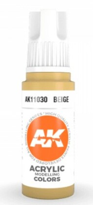 AK Interactive  AK Acrylics Beige Acrylic Paint 17ml Bottle AKI11030