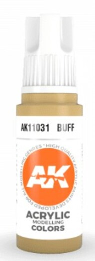 AK Interactive  AK Acrylics Buff Acrylic Paint 17ml Bottle AKI11031