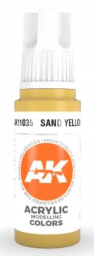 AK Interactive  AK Acrylics Sand Yellow Acrylic Paint 17ml Bottle AKI11035