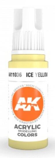 AK Interactive  AK Acrylics Ice Yellow Acrylic Paint 17ml Bottle AKI11036