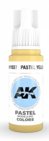 AK Interactive  AK Acrylics Pastel Yellow Acrylic Paint 17ml Bottle AKI11037