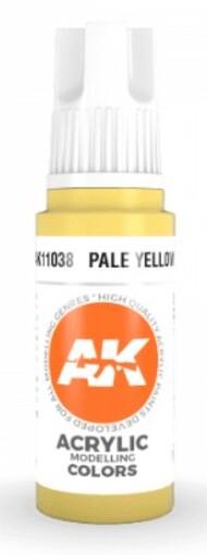 AK Interactive  AK Acrylics Pale Yellow Acrylic Paint 17ml Bottle AKI11038