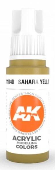 AK Interactive  AK Acrylics Sahara Yellow Acrylic Paint 17ml Bottle AKI11040