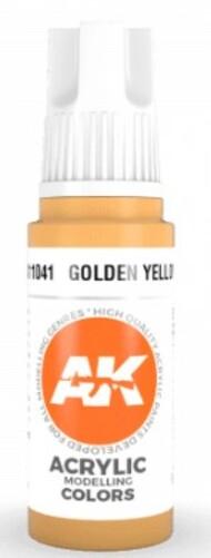 AK Interactive  AK Acrylics Golden Yellow Acrylic Paint 17ml Bottle AKI11041