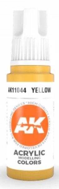 AK Interactive  AK Acrylics Yellow Acrylic Paint 17ml Bottle AKI11044