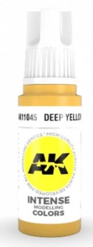 AK Interactive  AK Acrylics Deep Yellow Acrylic Paint 17ml Bottle AKI11045