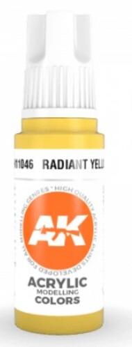 AK Interactive  AK Acrylics Radiant Yellow Acrylic Paint 17ml Bottle AKI11046