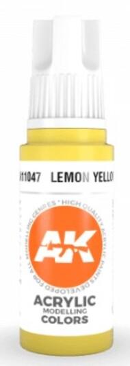 AK Interactive  AK Acrylics Lemon Yellow Acrylic Paint 17ml Bottle AKI11047