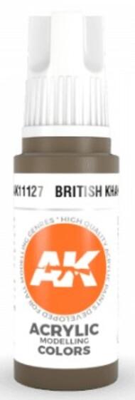 AK Interactive  AK Acrylics British Khaki Acrylic Paint 17ml Bottle AKI11127