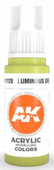 AK Interactive  AK Acrylics Luminous Green Acrylic Paint 17ml Bottle AKI11128