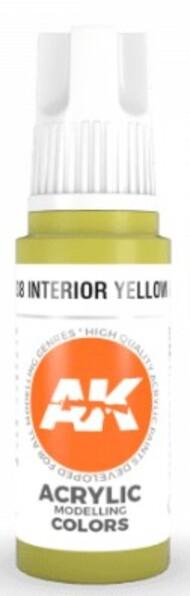 AK Interactive  AK Acrylics Interior Yellow Green Acrylic Paint 17ml Bottle AKI11138