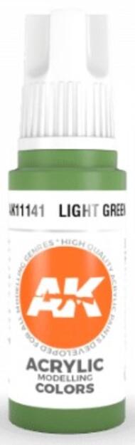 AK Interactive  AK Acrylics Light Green Acrylic Paint 17ml Bottle AKI11141