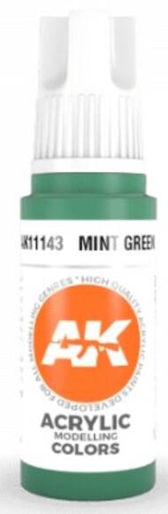 AK Interactive  AK Acrylics Mint Green Acrylic Paint 17ml Bottle AKI11143